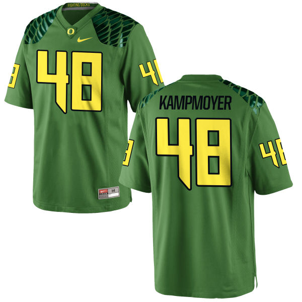 Men's Nike Hunter Kampmoyer Oregon Ducks Game Green Alternate Football Jersey Apple