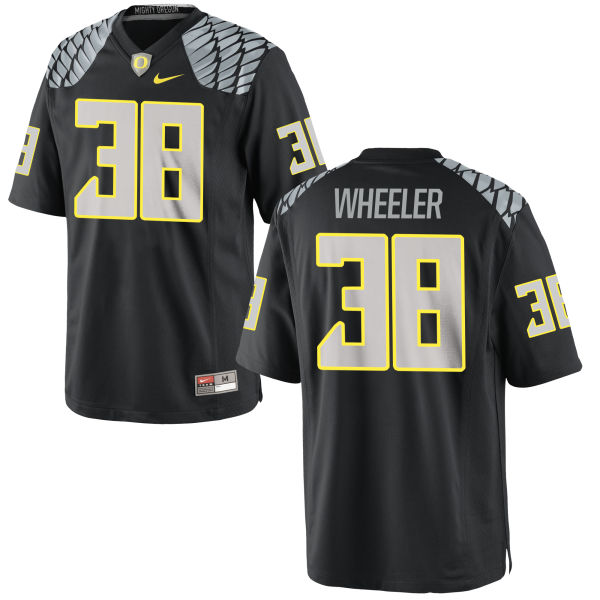 Men's Nike Ian Wheeler Oregon Ducks Authentic Black Jersey