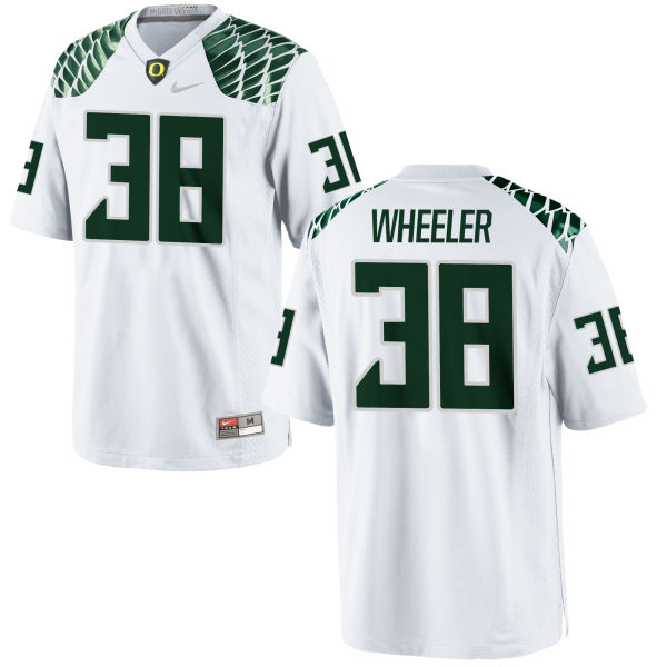 Men's Nike Ian Wheeler Oregon Ducks Game White Football Jersey