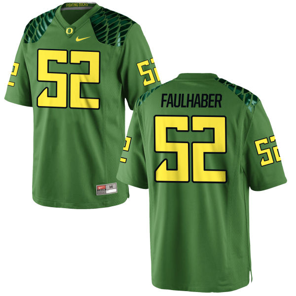 Men's Nike Ivan Faulhaber Oregon Ducks Authentic Green Alternate Football Jersey Apple