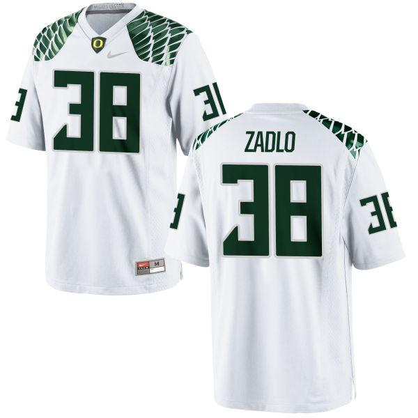 Men's Nike Jaren Zadlo Oregon Ducks Replica White Football Jersey