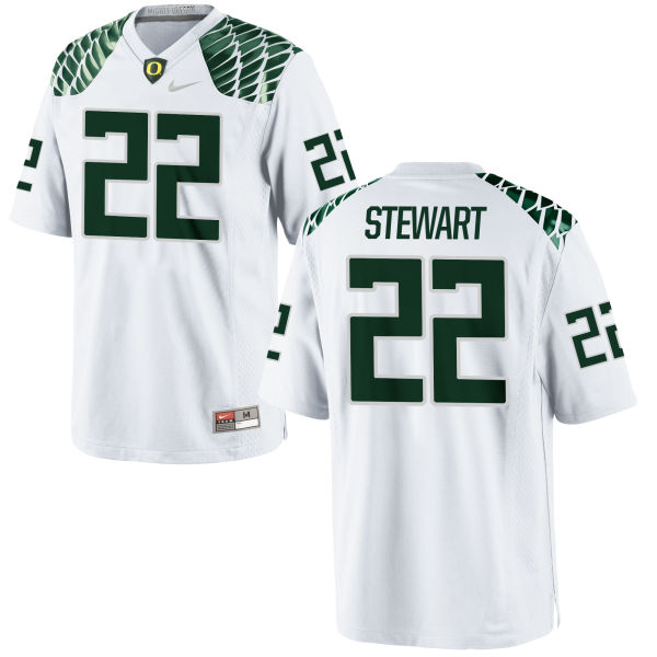 Men's Nike Jihree Stewart Oregon Ducks Replica White Football Jersey
