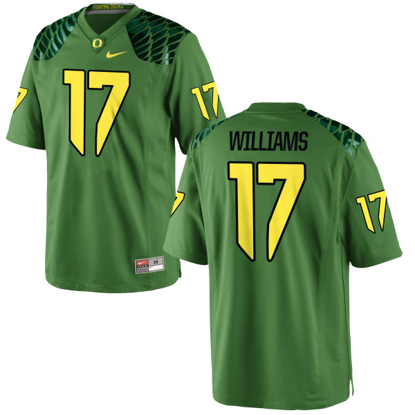 Men's Nike Juwaan Williams Oregon Ducks Replica Green Alternate Football Jersey Apple