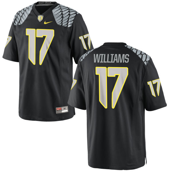Men's Nike Juwaan Williams Oregon Ducks Authentic Black Jersey