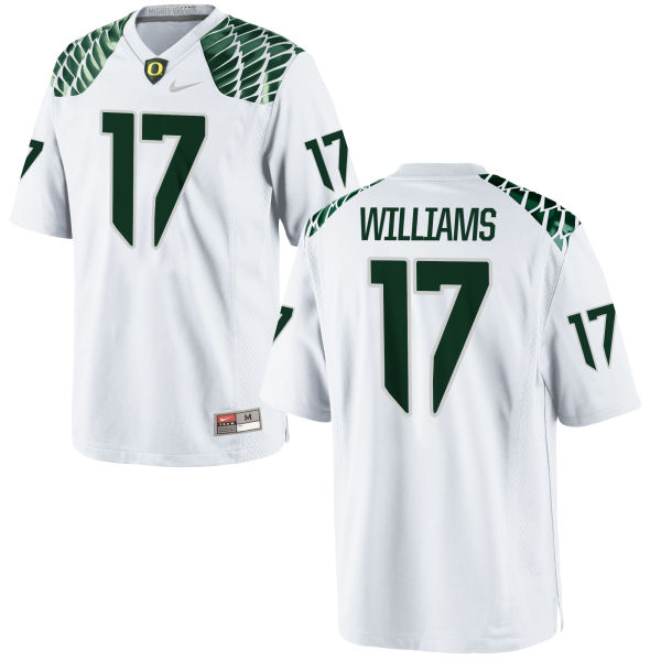 Men's Nike Juwaan Williams Oregon Ducks Game White Football Jersey