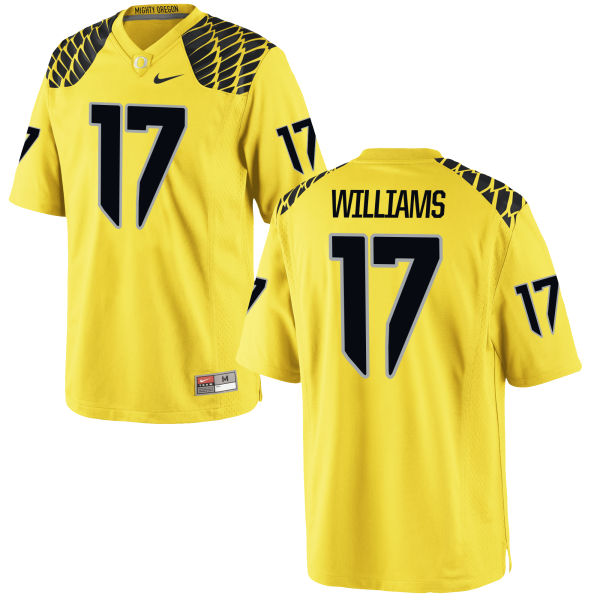 Men's Nike Juwaan Williams Oregon Ducks Game Gold Football Jersey