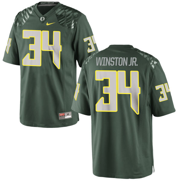 Men's Nike La'Mar Winston Jr. Oregon Ducks Game Green Football Jersey