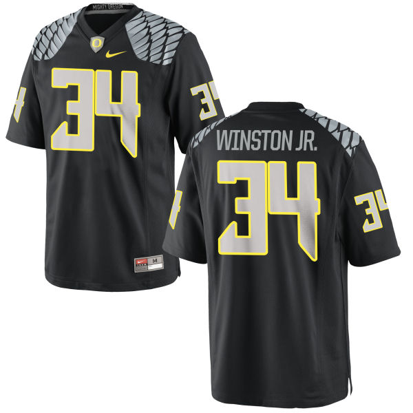 Youth Nike La'Mar Winston Jr. Oregon Ducks Replica Black Jersey
