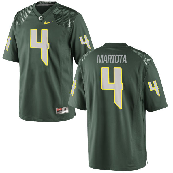 Men's Nike Matt Mariota Oregon Ducks Game Green Football Jersey