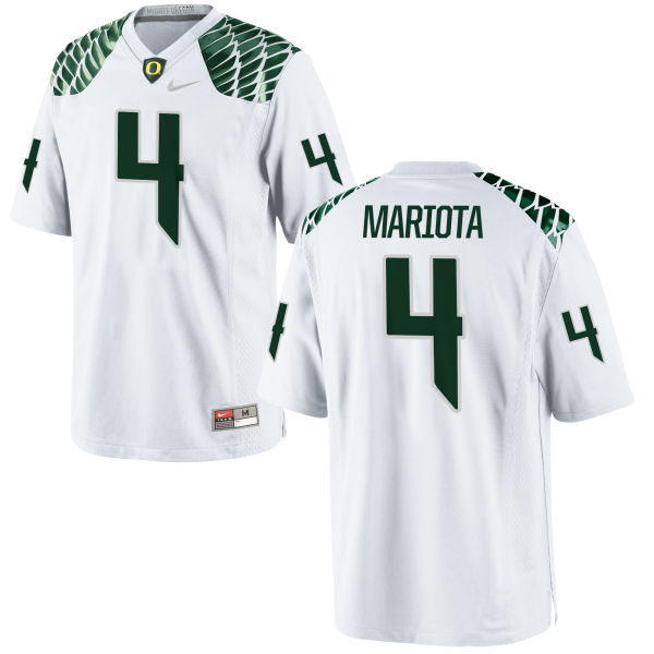 Men's Nike Matt Mariota Oregon Ducks Game White Football Jersey