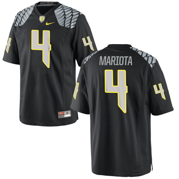 Men's Nike Matt Mariota Oregon Ducks Game Black Jersey