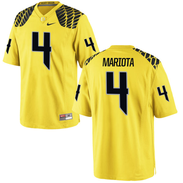 Men's Nike Matt Mariota Oregon Ducks Game Gold Football Jersey