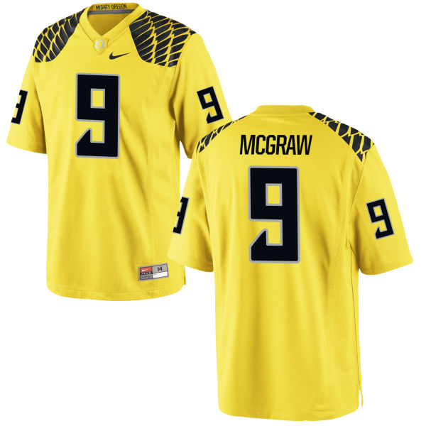 Men's Nike Mattrell McGraw Oregon Ducks Replica Gold Football Jersey