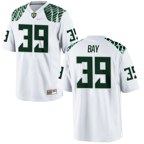 Men's Nike Ryan Bay Oregon Ducks Game White Football Jersey