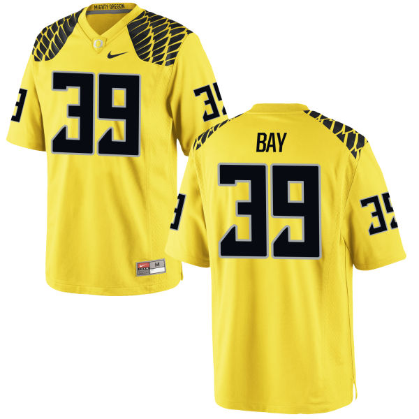 Men's Nike Ryan Bay Oregon Ducks Game Gold Football Jersey