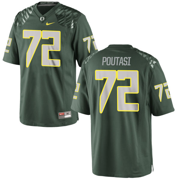 Men's Nike Sam Poutasi Oregon Ducks Game Green Football Jersey