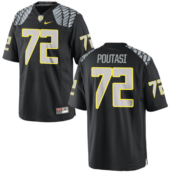 Men's Nike Sam Poutasi Oregon Ducks Game Black Jersey