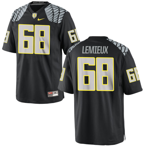 Men's Nike Shane Lemieux Oregon Ducks Replica Black Jersey