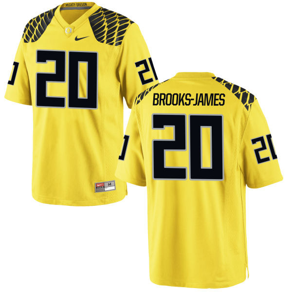 Men's Nike Tony Brooks-James Oregon Ducks Game Gold Football Jersey