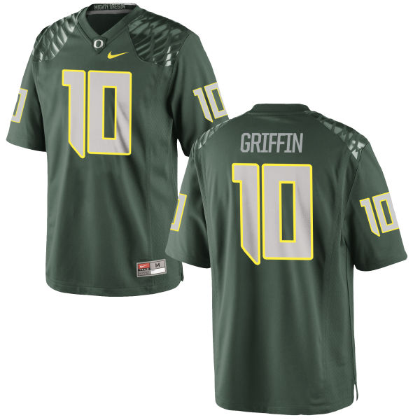 Men's Nike Ty Griffin Oregon Ducks Game Green Football Jersey