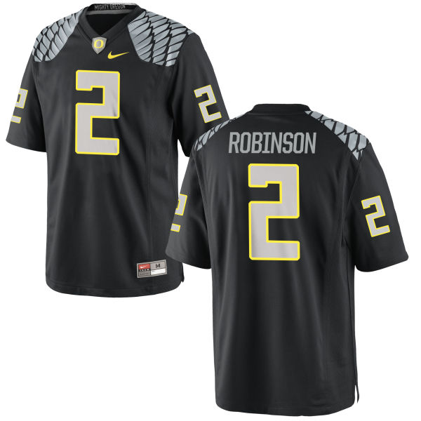 Men's Nike Tyree Robinson Oregon Ducks Game Black Jersey