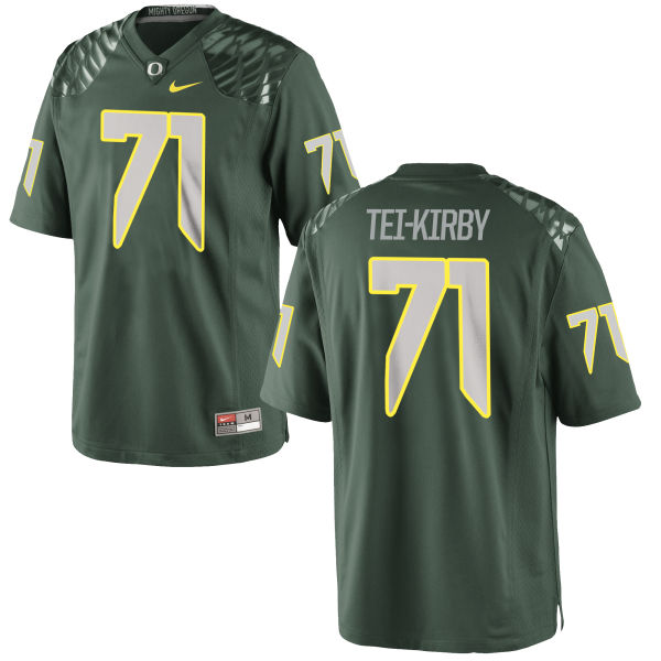 Men's Nike Wayne Tei-Kirby Oregon Ducks Game Green Football Jersey