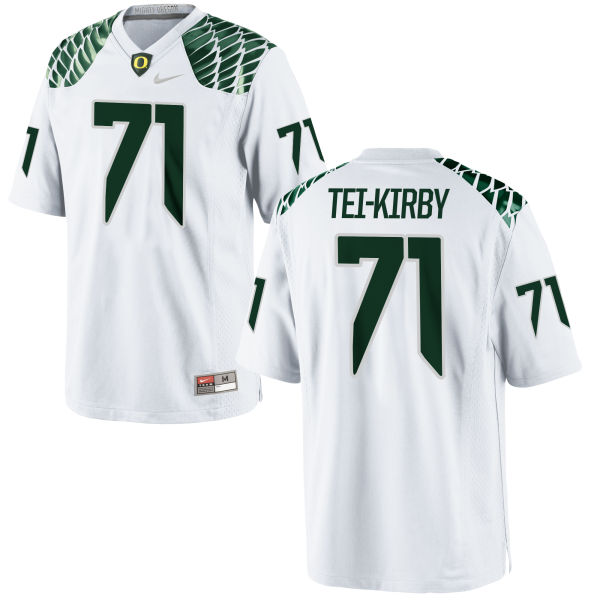 Men's Nike Wayne Tei-Kirby Oregon Ducks Game White Football Jersey