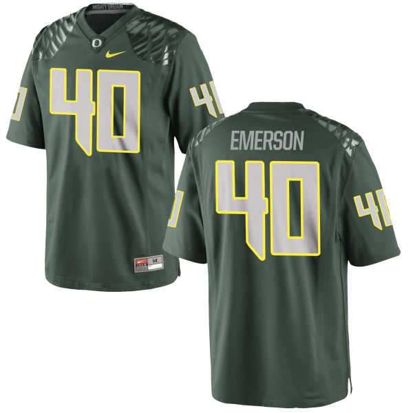 Men's Nike Zach Emerson Oregon Ducks Game Green Football Jersey